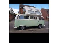 Show van vw t2 campervan 7,000 miles new engine rebulid