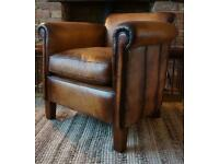 John Lewis Camford leather armchair distressed leather RRP £1649