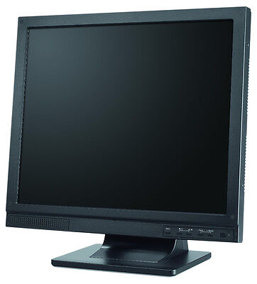 Lpl-15w01 Cctv Security 15 Lcd Monitor, Bnc Input/output, Vga And Audio