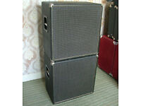 """2 x 15"""" Ported Cabs for Bass or PA"""
