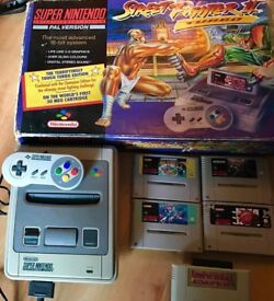 Original Super Nintendo SNES - Boxed with Games, Mario, Castlevania and more