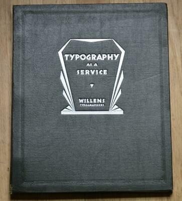 Rare Vintage Catalog Book Typography as a Service, Willens Advertisements Fonts