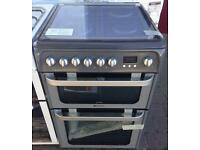 ***NEW Hotpoint 60cm wide duel fuel double oven cooker for SALE with 1 year warranty***