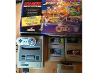 Super Nintendo SNES boxed with Games