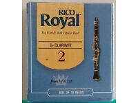 Eb (E flat) Clarinet reeds pack of 10