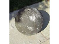 Stone Effect Concrete Ball Water Feature with hole drilled 27cm diameter