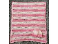 Crochet blanket and hat