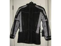 XTi black/grey waterproof motorcycle jacket - NEW