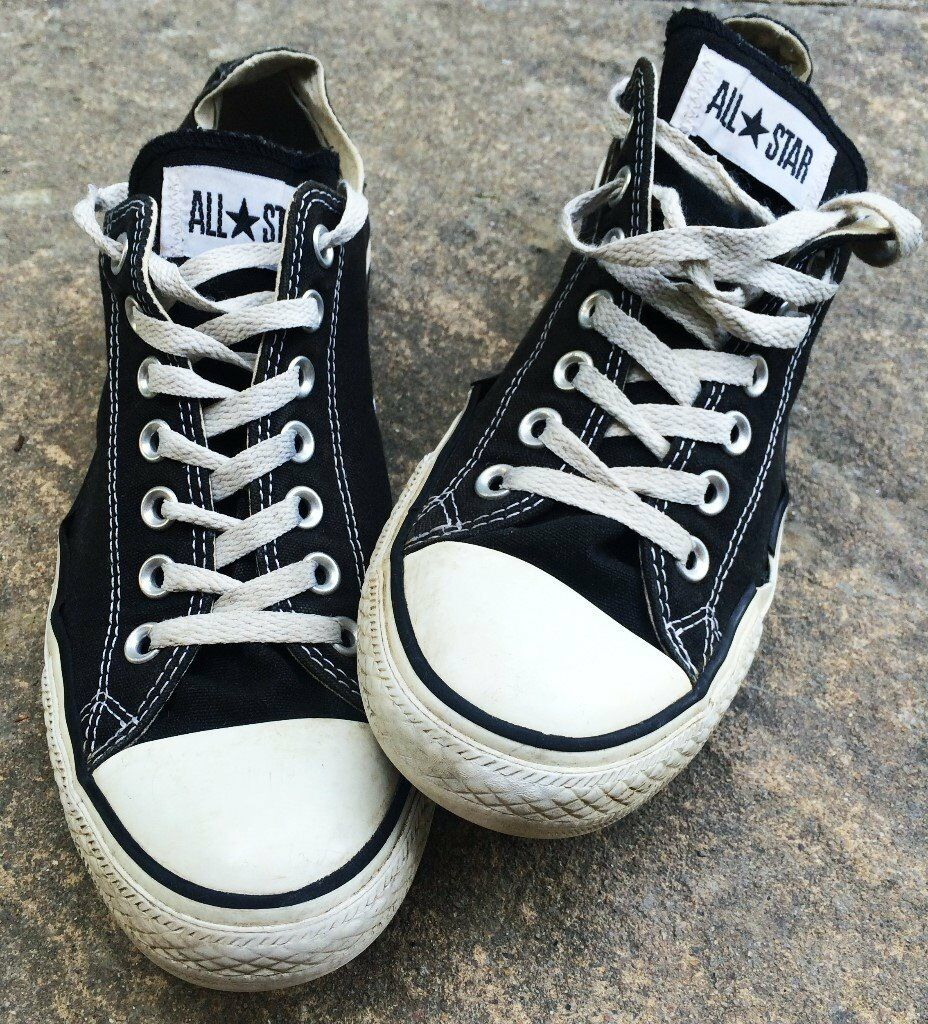 e0ed6bfdf220 GREAT PAIR CONVERSE ALL STARS SIZE 9 BLACK ALL STAR TRAINERS ALLSTARS SHOES  NINE SNEAKERS COOL SHOE