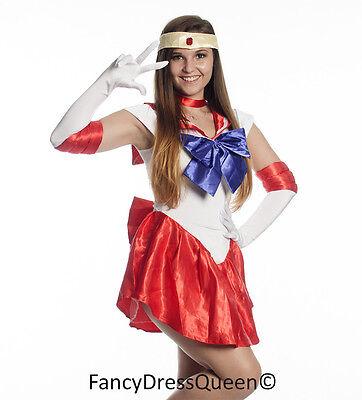 Matrose Mars Cosplay Sailor Moon Kostüm Schicke Verkleidung Outfit S-4XL