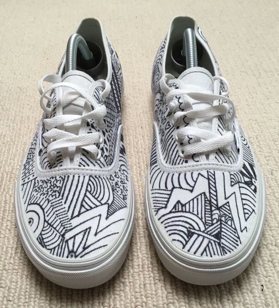 Vans Custom Hand Drawn Trainers Sneakers Palace Yeezy Boost Fear Of God