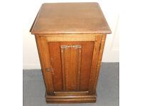 Oak Side Table, Hall Table, Bedside Cabinet