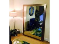 Silver Art Deco Style Wall Mirror (SW8 Collection Only)