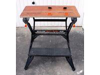Black a Decker 700 plus Duel Height Workbench Unused