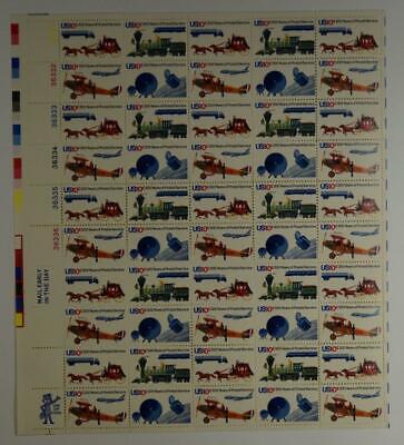 Postal Stamps - US SCOTT 1572 - 1575 PANE OF 50 POSTAL SERVICE STAMPS 10 CENT FACE MNH