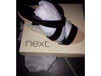 New leather shoes from NEXT .Size 6.5 UK