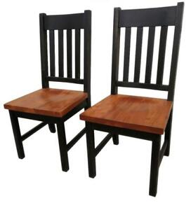 Amish Mennonites handcrafted Canadian wood dining chairs - FREE SHIPPING