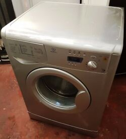 Silver Indesit WIE137s Washing Machine 6kg Load Digital Display