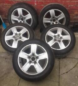5 x Audi 205/55/R16 Alloy Wheels GRIP500 Brand New Tyres