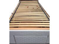 SINGLE 3ft ORTHOPAEDIC MOBILITY DIVAN BED remote control motor brown headboard