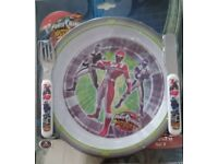 Power Rangers childrens dining set job lot