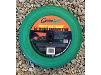 """Green tyre - 14"""" for wheelbarrow"""
