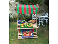 Kids Wooden food stall / shop / market with food
