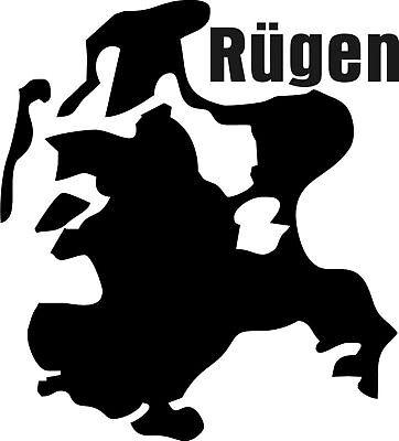 Insel Rügen  Aufkleber  Inselumriss  Folienschnitt