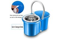 BRAND NEW -- Stainless Steel Deluxe Microfiber 360 Spin Mop & Bucket Floor Cleaning System