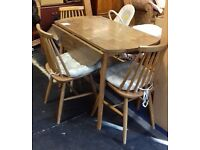 Wooden dining table with 3 Chairs - good condition