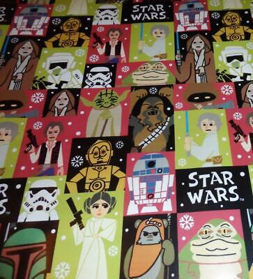 WRAPPING PAPER STAR WARS 3.33FT x 4FT CHRISTMAS HAN SOLO CHE