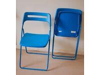 Foldable IKEA Nisse chairs - blue