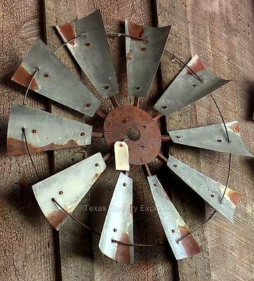 """30"""" Rustic Texas Windmill Head Fan Western Ranch Barn Farmhouse Wall Decor"""