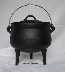 Cast iron Bean Pot 3 QT  Cauldron Gypsy Pot Dutch oven Survival Sz 1 Potjie pot