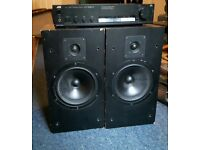 2 x Speakers and 1 x 40W JVC amp cheap sound system QUICK SELL