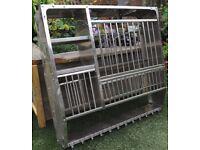 Aluminium plate rack.