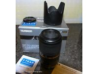 Tamron 70-300mm f4-5.6 DI VC USD Lens Canon fit.