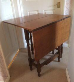 Small Rectangular Wooden Gateleg Dropleaf Table