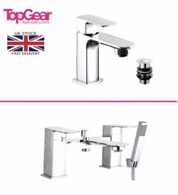 Ultra Modern Slim Bathroom Tap Sets - Basin Mono, Bath Filler, Bath Shower Mixer