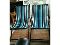 Two deckchairs, as new