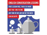 friendly one-to-one English conversation lessons/accent practice, £15/hour - first session free