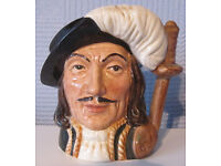 Royal Doulton Athos (one of the three musketeers) Toby / character Jug