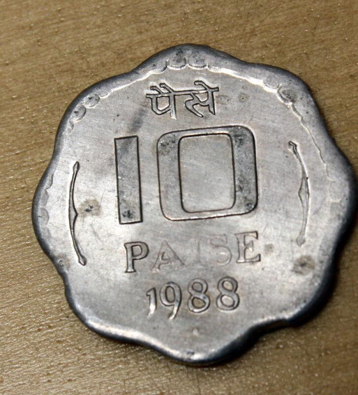 1988 India 10 Paise