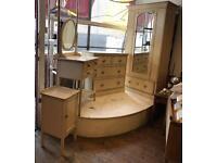 1920's Hand Stencilled Vintage Bedroom Furniture Set