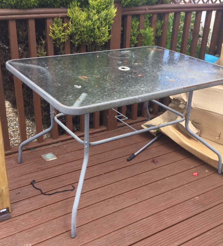 Outdoor glass garden table  in Leyland, Lancashire  Gumtree