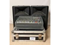 PA SYSTEM, SOUNDCRAFT SPIRIT AND ELECTROVOICE SX300