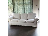 Ikea Erktorp 3 seater sofa in blekinge white
