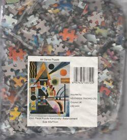 2 X Kandinsky Art Series Jigsaw Puzzles.