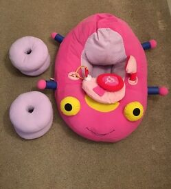 Baby Pink Soft Sit me up car toy