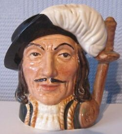 Royal Doulton Toby / character Jug - Athos (one of the three musketeers)